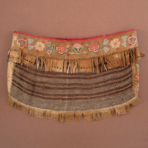 Dene Babiche Bag with Silk Embroidery, From the Collection of Charles and Valerie Diker