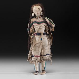 Shoshone Beaded Hide Doll