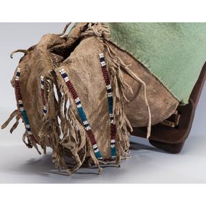 Kiowa Child's Beaded Hide Cradle