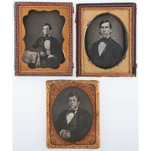 Quarter Plate Portraits of Authoritative Gentlemen, Lot of 7