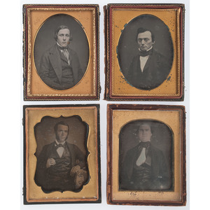 Quarter Plate Portraits of Authoritative Gentlemen, Lot of 7