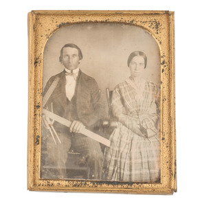 Quarter Plate Daguerreotype Portrait of Architect and Wife