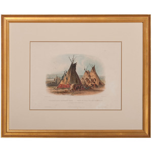 Karl Bodmer (Swiss, 1809-1893) Hand-Colored Lithograph on Paper