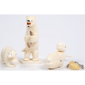 Alaskan Eskimo Walrus Ivory Carvings