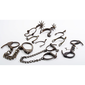 Three Pairs of Handcuffs and Three Pairs of Spurs