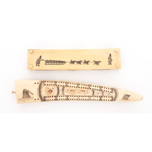 Alaskan Eskimo Walrus Ivory Cribbage Boards