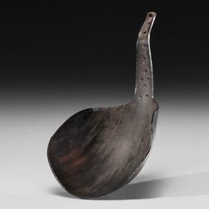 Buffalo Horn Spoon Made by Fool Bull (Brule Sioux, 1849 - 1909)