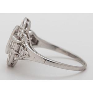 Vintage Platinum Diamond Ring