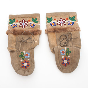 Athabascan Beaded Moose Hide Boots