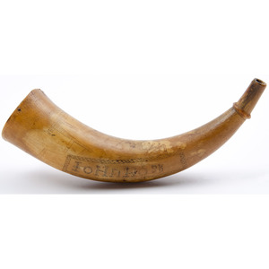 Engraved Powder Horn