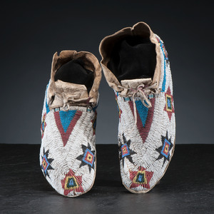 Cheyenne Beaded Hide Moccasins