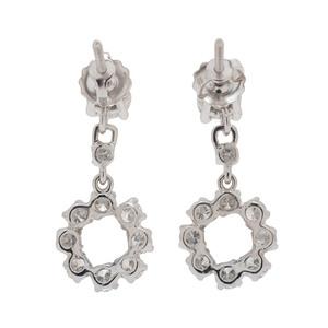 14 Karat White Gold Diamond Dangle Earrings