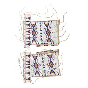 Sioux Woman's Beaded Hide Half Leggings