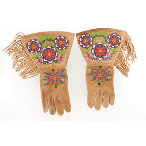 Plateau Beaded Hide Gauntlets