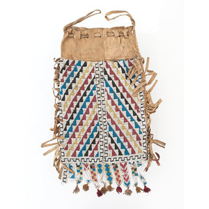Great Lakes Loom Beaded Hide Bag