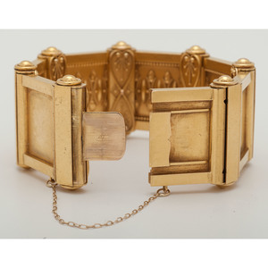 18 Karat Yellow Gold Etruscan Revival Bracelet