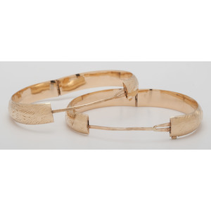 14 Karat Yellow Gold Wedding Bracelets