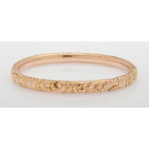 14 Karat Yellow Gold Bangle Bracelet