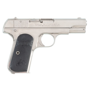 ** Colt 1903 Hammerless Nickel Pocket Automatic