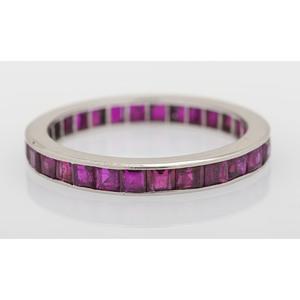 Platinum Ruby Eternity Ring