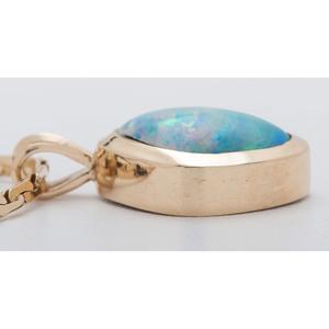 Boulder Opal 14 Karat Yellow Gold Pendant