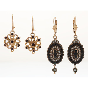 Victorian Earrings in Karat Gold and Gold Filled