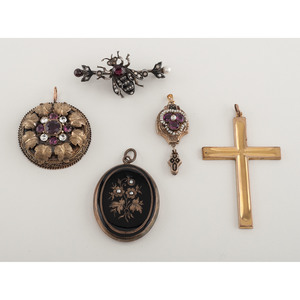 Karat Gold and Gold Filled Collection of Victorian Jewelry