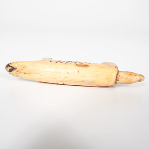 Inuit Walrus Ivory Bear Carving