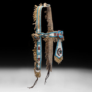 Plateau Beaded Hide Horse Headstall