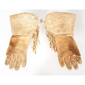 Crow Beaded Tie AND Shoshone Beaded Gauntlets