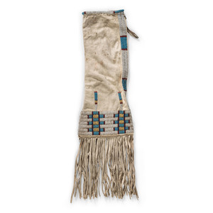 Sioux Beaded Deer Hide Tobacco Bag