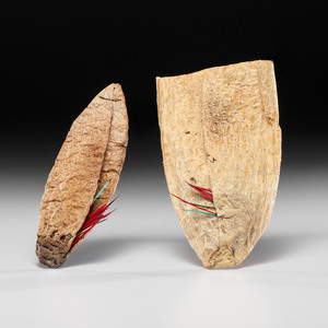 Plains Buffalo Bladder Quill Containers