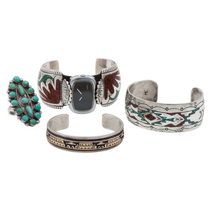 Zuni and Navajo Bracelets and Ring