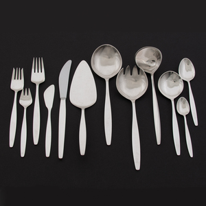 Georg Jensen Sterling Flatware Service, Cypress