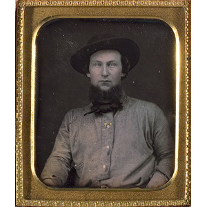 Sixth Plate Daguerreotype of a California Gold Miner,