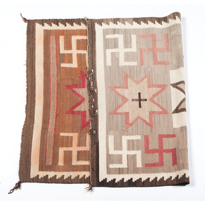 Navajo Western Reservation Weaving / Rug with Whirling Logs