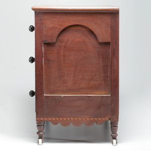 A Fine and Rare Miniature Kentucky Cherry Inlaid Sugar Bureau