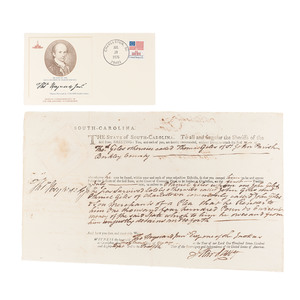 Signers of the Declaration of Independence, Autograph Group of 5 Incl. Roger Sherman, George Walton, and Thomas Heyward