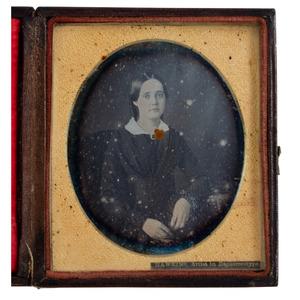 Scarce Ezekial C. Hawkins Sixth Plate Daguerreotype of a Woman