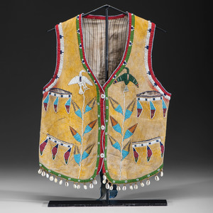 Cheyenne Beaded Hide Vest