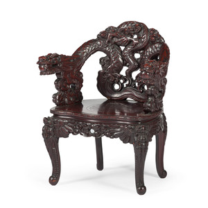 Chinese Chair with Dragon Carving