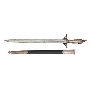 American Indian Statue Hilt Short Sword