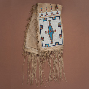 Sioux Beaded Buffalo Hide Saddle Bags