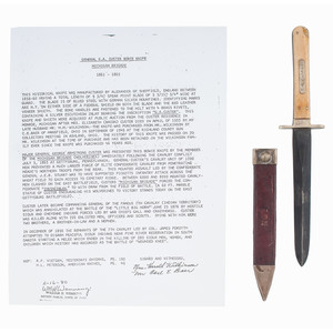 Sheffield Bowie Knife Presented to G.A. Custer