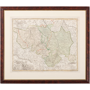 [Cartography - Europe - Germany] Lusatiae Superioris, J.B. Homann, 1732