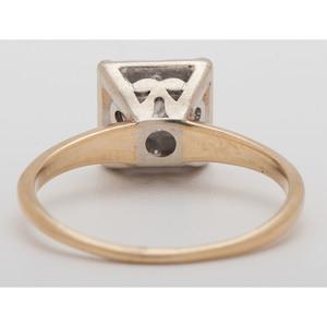 14 Karat Two-Tone Gold Illusion Top Ring