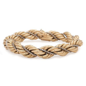Balestra 18 Karat Yellow Gold Rope Bracelet