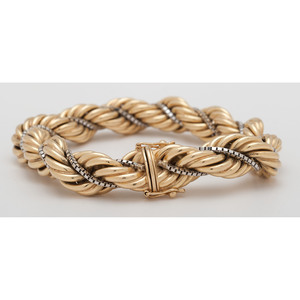 Balestra 18 Karat Yellow Gold Rope Bracelet