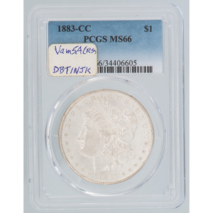 United States Morgan Silver Dollar 1883-CC, PCGS MS66