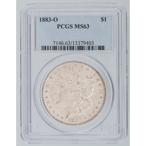 United States Morgan Silver Dollar 1883-O, PCGS MS63